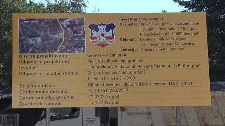 Vracar - Pokrivanje - radovi u ulici Bore Stankovica