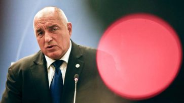 Bulgarian Prime Minister Boyko Borissov speaks during a meeting of the EPP at a hotel in Sofia, Bulgaria, Wednesday, May 16, 2018. Heads of State of the EU and Western Balkan countries will attend a dinner on Wednesday and meet for a summit at Sofia's National Palace of Culture on Thursday. (AP Photo/Darko Vojinovic)