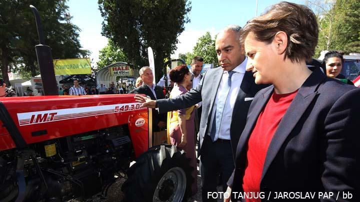 Novi Sad, 16. maja 2018 - Predsednica Vlade Srbije Ana Brnabic na Medjunarodnom sajamu poljoprivrede u Novom Sadu. FOTO TANJUG / JAROSLAV PAP / bb